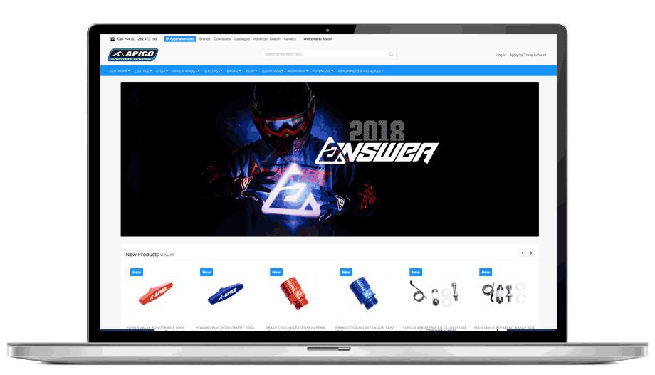 Apico Factory Racing - E-Commerce Website