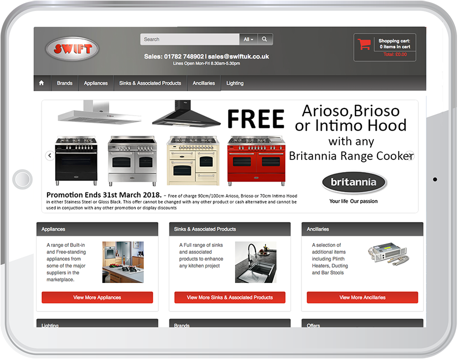Need an e-commerce store for white goods or kitchen appliances? Speak to us.